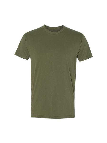 TankFarm Blank Tee - TF SUEDED CREW- ARMY