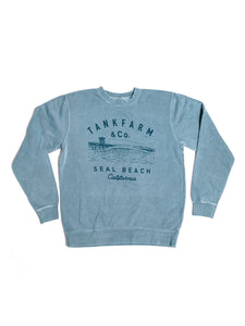 SHORE BREAK CREW NECK - SLATE BLUE - Tankfarm & Co.