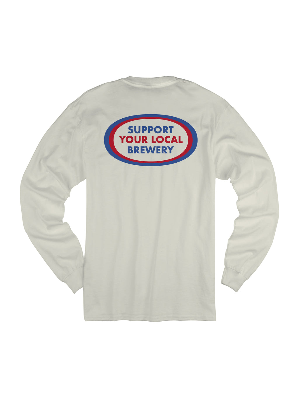 SUPPORT YOUR LOCAL BREWERY L/S - VINTAGE WHITE - Tankfarm & Co.