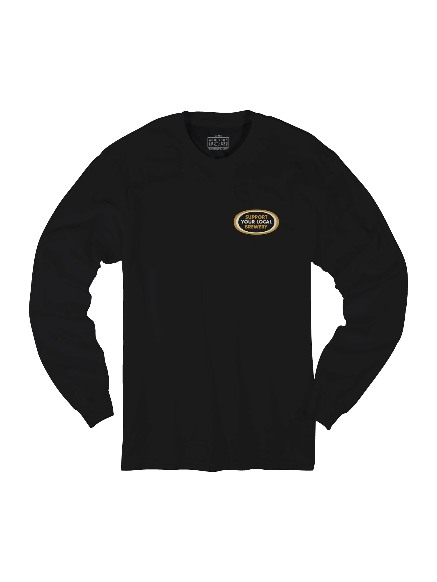 SUPPORT YOUR LOCAL BREWERY L/S - BLACK - Tankfarm & Co.