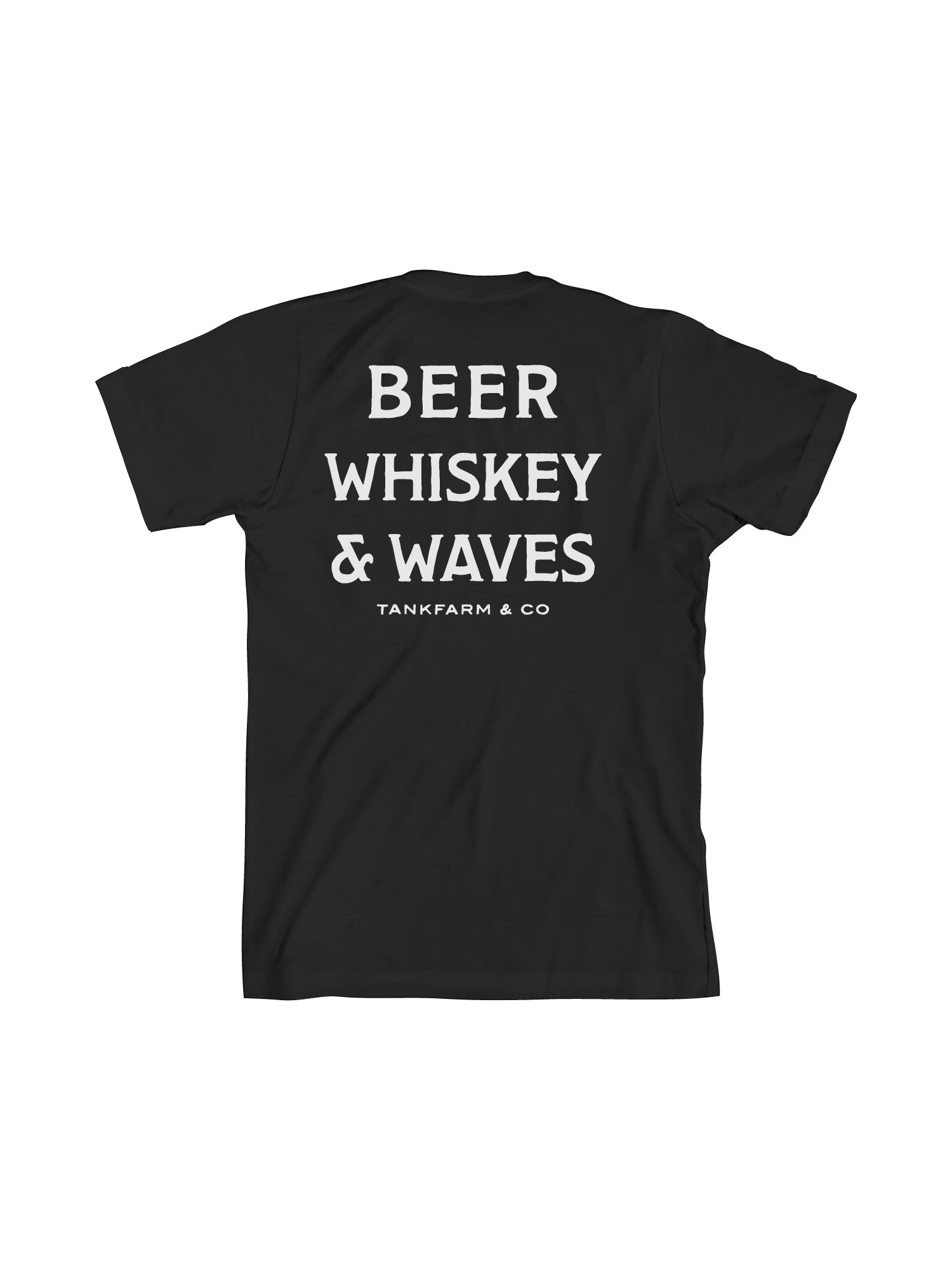 BEER, WHISKEY, AND WAVES - BLACK