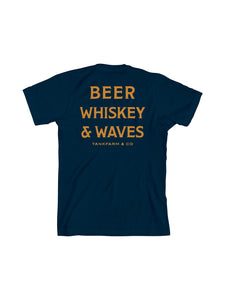 BEER, WHISKEY, AND WAVES - NAVY - Tankfarm & Co.