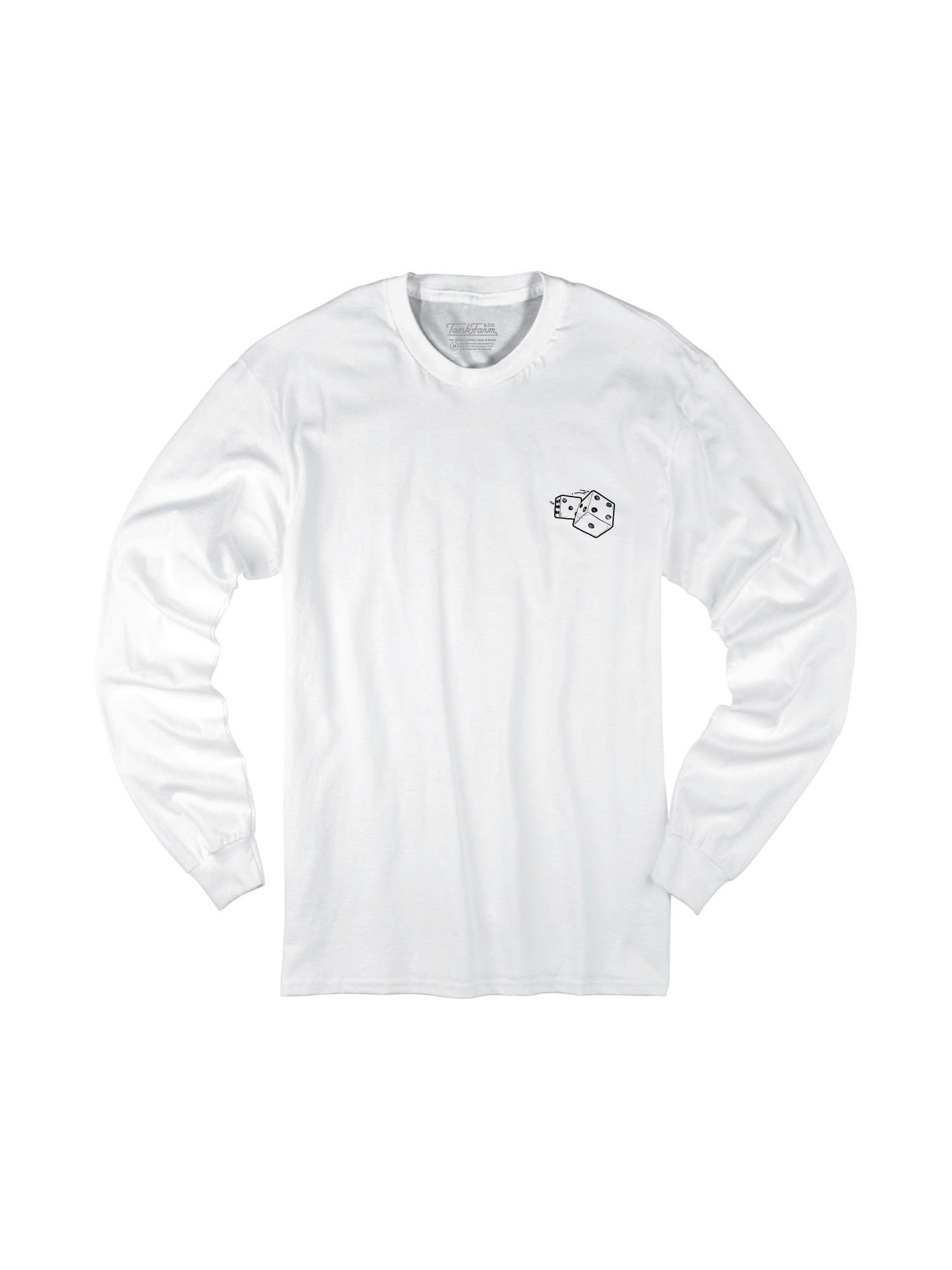 ROLL THE DICE L/S - WHITE - Tankfarm & Co.