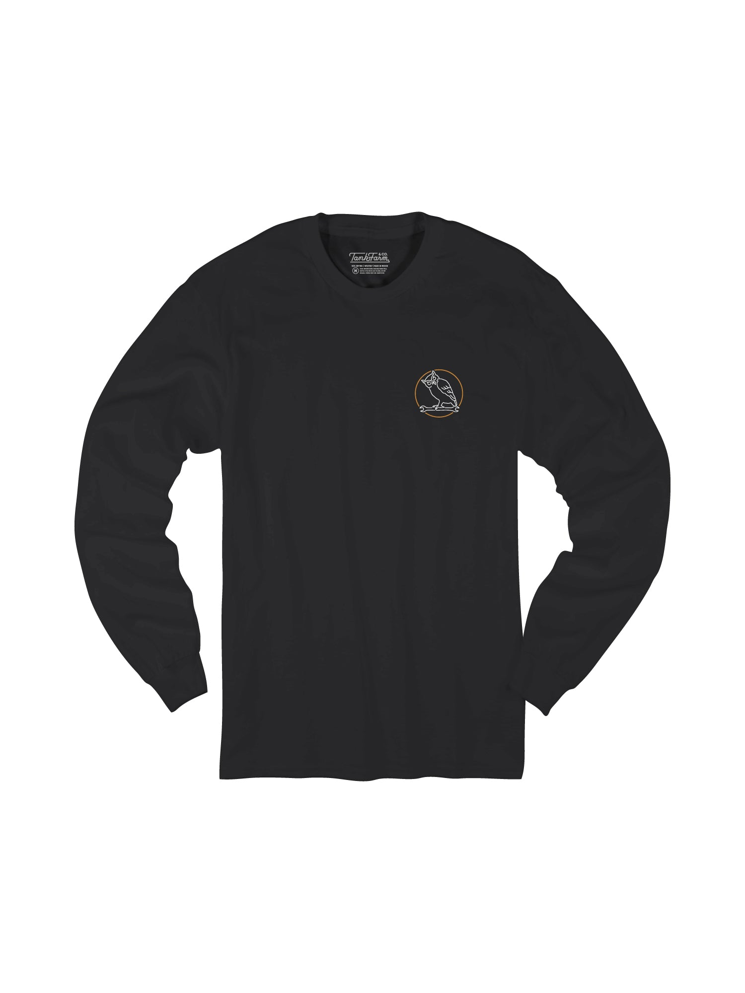 NIGHT CREW STAMP L/S - BLACK/GOLD - Tankfarm & Co.
