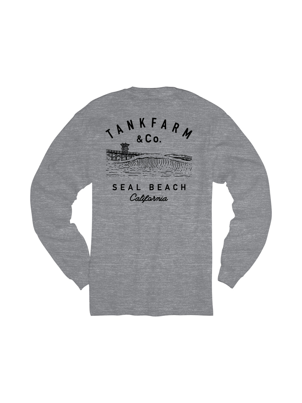 SHORE BREAK L/S - LIGHT HEATHER GRAY - Tankfarm & Co.