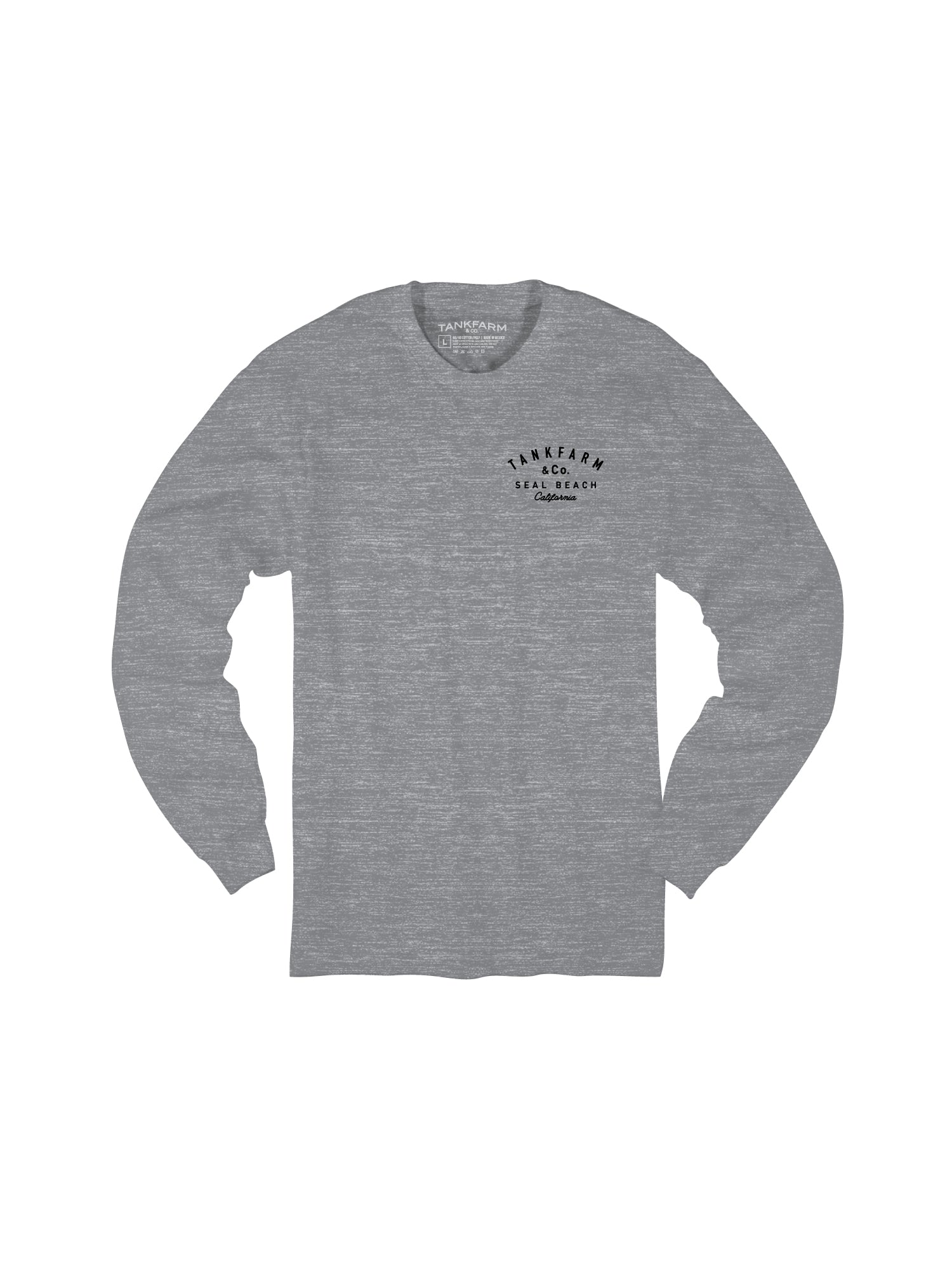 SHORE BREAK L/S - LIGHT HEATHER GRAY