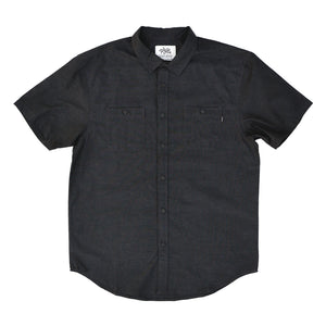 TANKFARM WORK SHIRT - HEATHER BLACK - Tankfarm & Co.