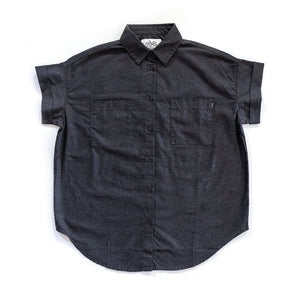 DOTTIE WOMENS WORK SHIRT - HEATHER BLACK - Tankfarm & Co.