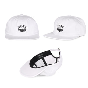 Shakastics x Ken Kagami 3 - Unstructured 6 Panel Hat White