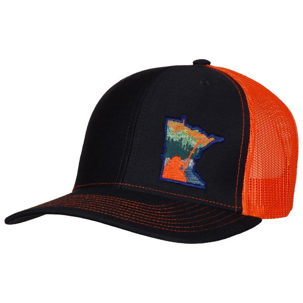 Billy Fish Forest, Navy / Orange