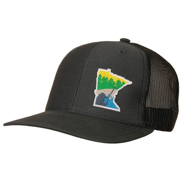 MN Billy Fish Sunrise, Charcoal / Black - StateRun