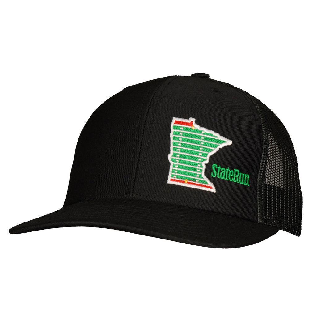Minnesota football field in state black snapback hat staterun