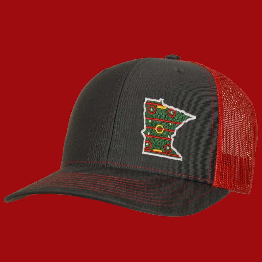 Minnesota Hockey hat wild ass colors Red staterun
