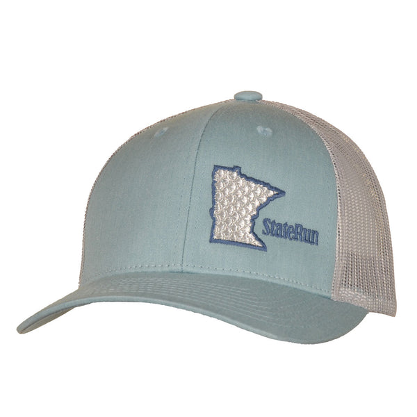 MN Program Blue Alum, small snapback hat staterun