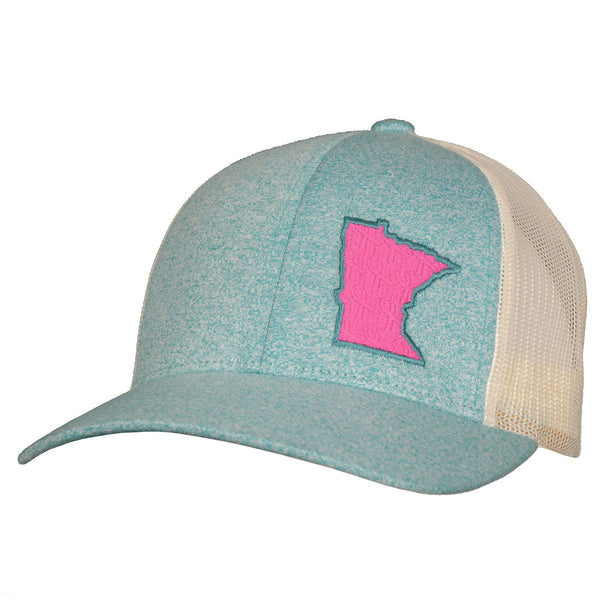 MN pink ribbon birch team snapback hat staterun