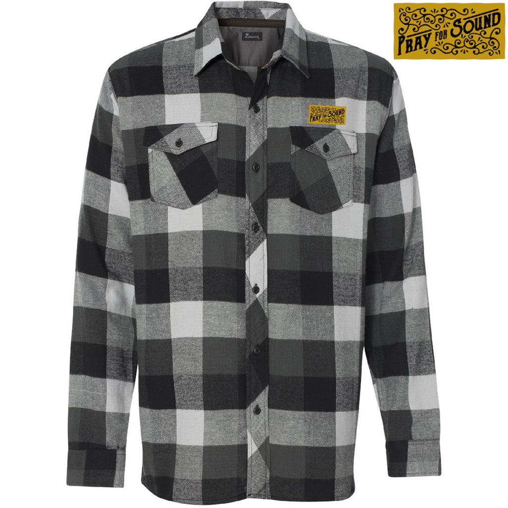 Pray for Sound Leather Patch Flannel