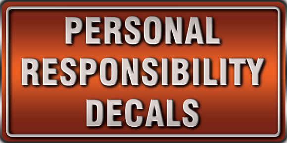 personal responsibility decals