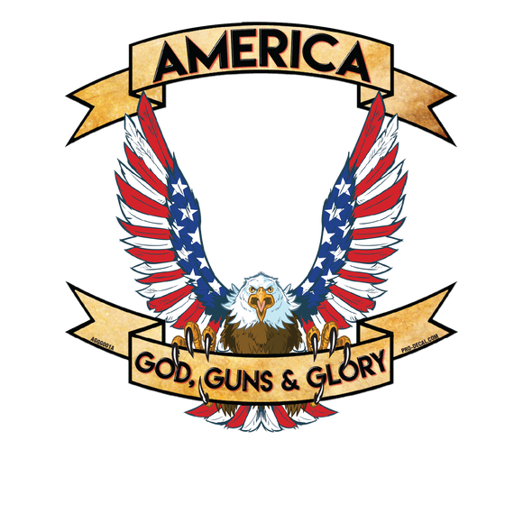 America god guns & glory patriotic decal