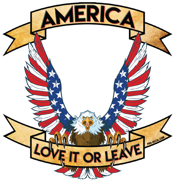 America love it or leave patriotic decal