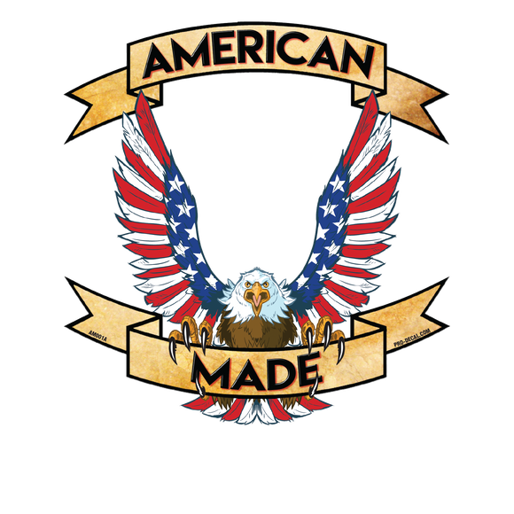 American made patriotic decal