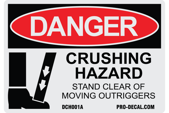Danger crushing hazard