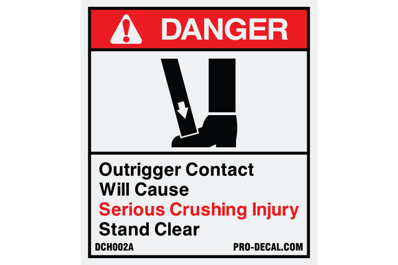 Danger outrigger contact