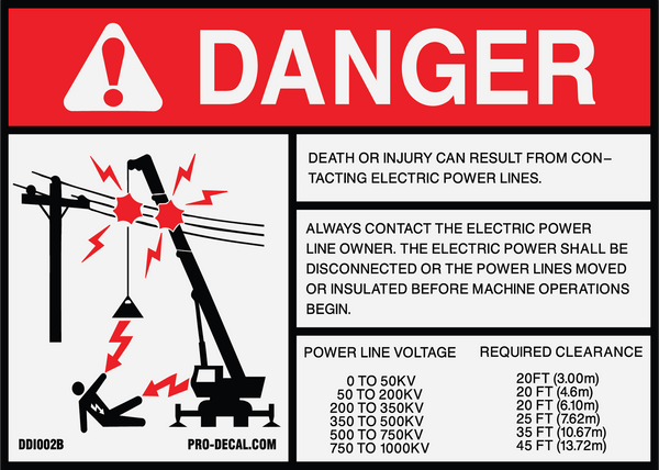 Pro Decal Warning Decals Danger Death Or Injury From