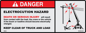 Danger electrocution hazard safety and warning decal