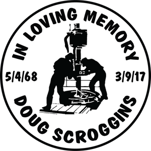 Doug Scroggins in memory of decal 5/4/68 3/9/17 roughneck
