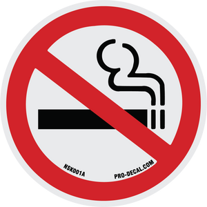 no smoking safety and warning decal