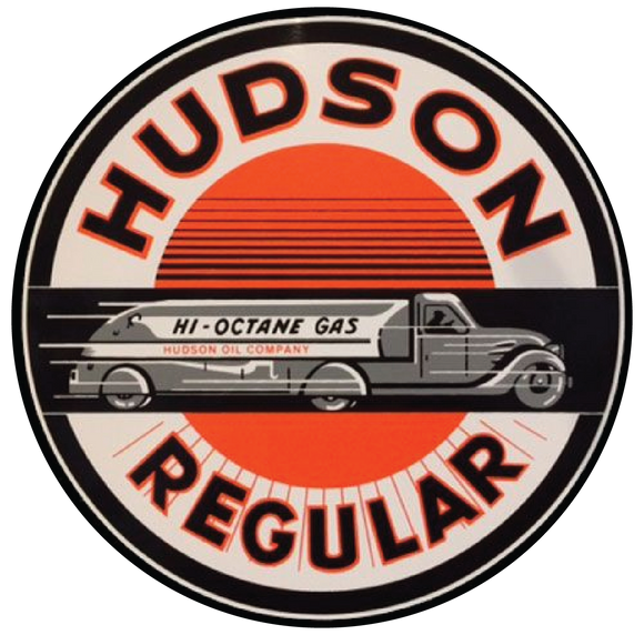 Hudson oil company petroliana decal