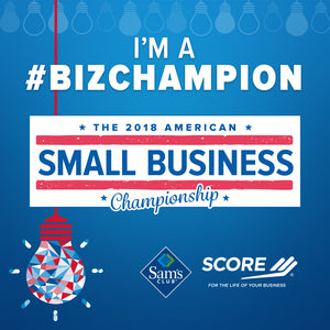 American Small Business Champion by SCORE and Sam's Club WINNER!!