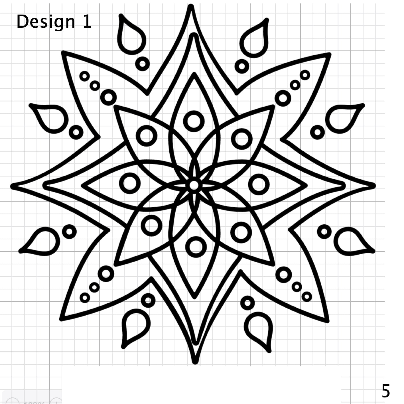 Mandala Designs - Less Detail