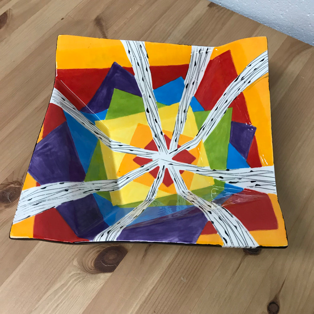 Painted Origami Bowl