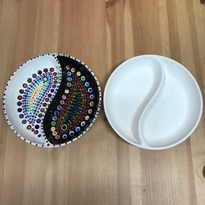 Painted Yin Yang Rainbow Bowl
