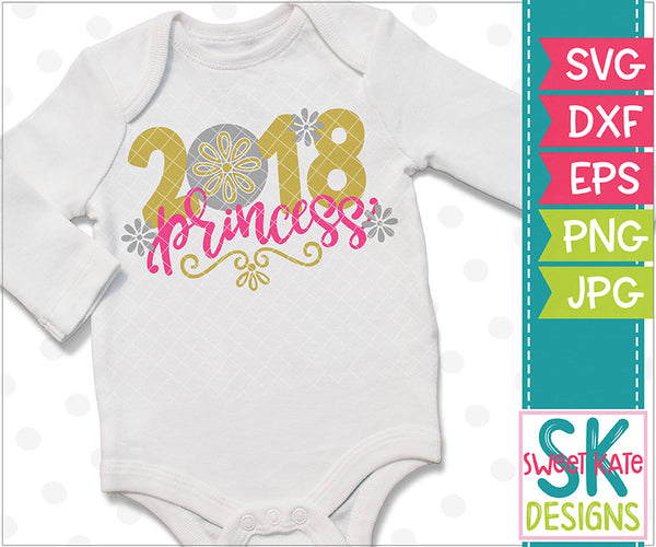 2018 Princess SVG DXF EPS PNG JPG - Sweet Kate Designs