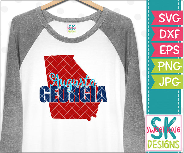 Augusta Georgia SVG DXF EPS PNG JPG - Sweet Kate Designs