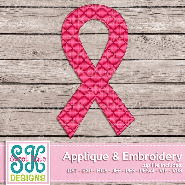 Awareness Ribbon Mini Fill Stitch Embroidery - Sweet Kate Designs