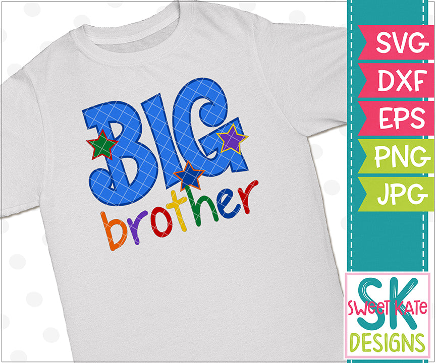 Big Brother SVG DXF EPS PNG JPG - Sweet Kate Designs