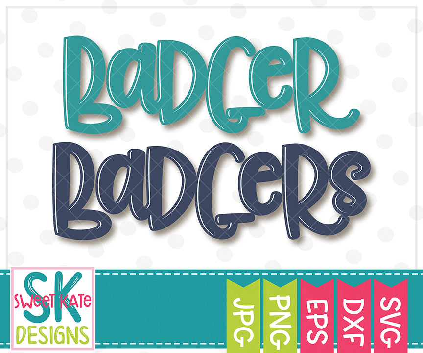 Badger/Badgers SVG DXF EPS PNG JPG - Sweet Kate Designs