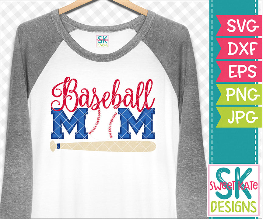 Baseball Mom SVG DXG EPS PNG JPG - Sweet Kate Designs
