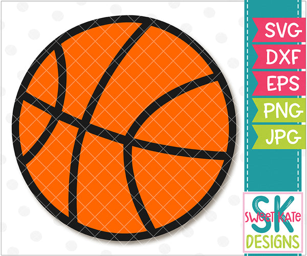 Basketball SVG DXF EPS PNG JPG - Sweet Kate Designs