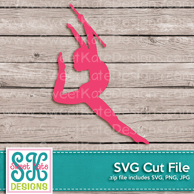 Baton Twirler Silhouette SVG - Sweet Kate Designs