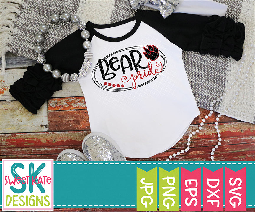Bear Pride SVG DXF EPS PNG JPG - Sweet Kate Designs