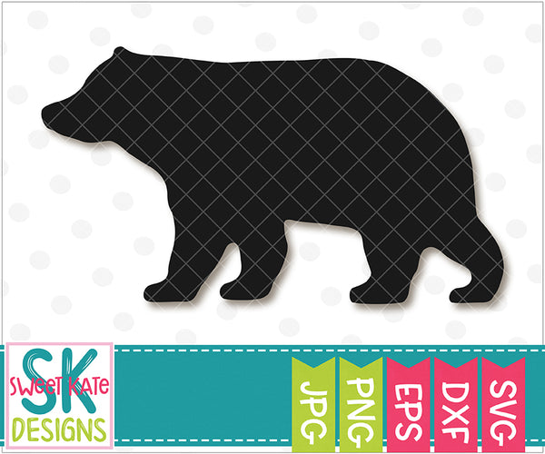 Bear Silhouette SVG DXF EPS PNG JPG