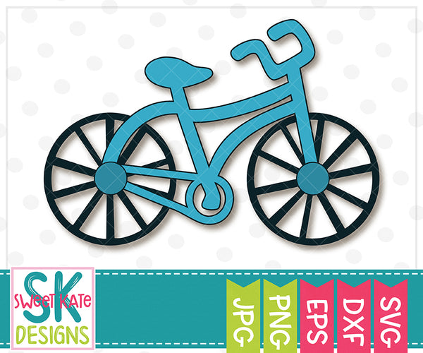 Bicycle SVG DXF EPS PNG JPG - Sweet Kate Designs