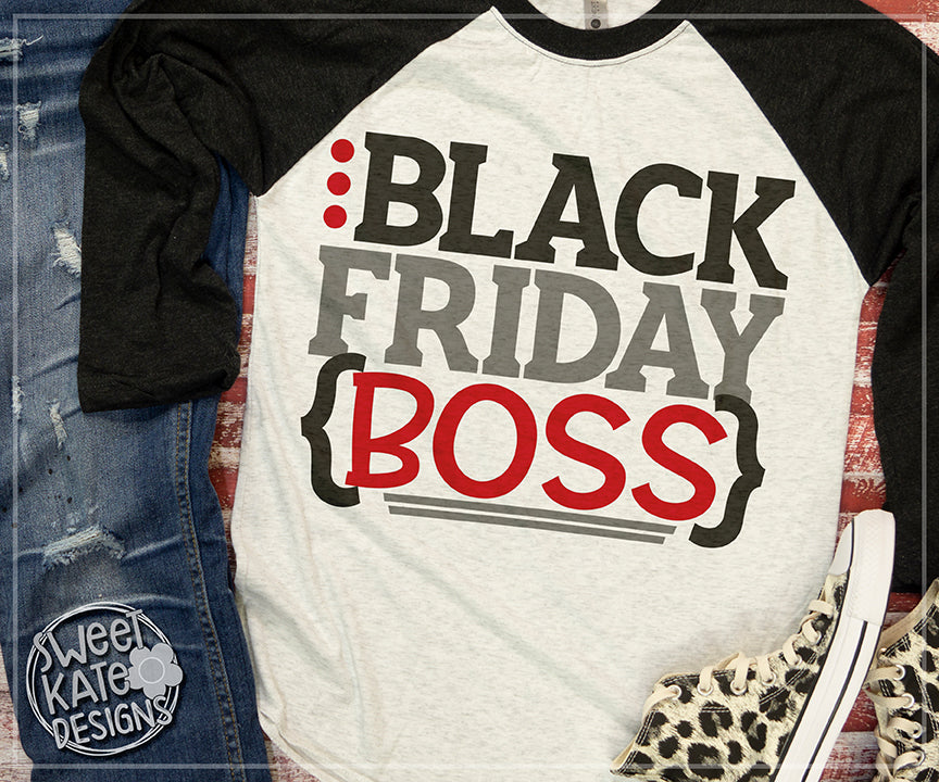 Black Friday Boss SVG DXF EPS PNG JPG - Sweet Kate Designs