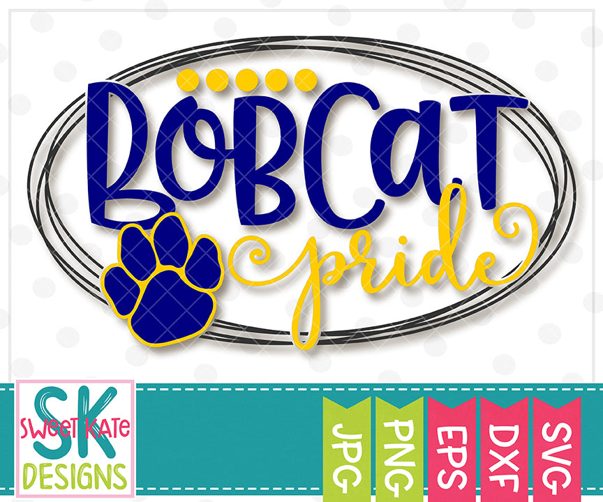 Bobcat Pride SVG DXF EPS PNG JPG - Sweet Kate Designs