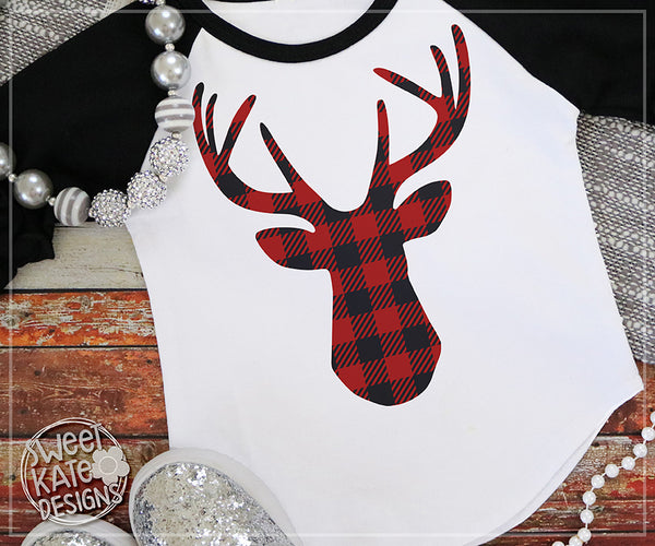 Buffalo Plaid Deer Head Svg Dxf Eps Png Jpg Sweet Kate