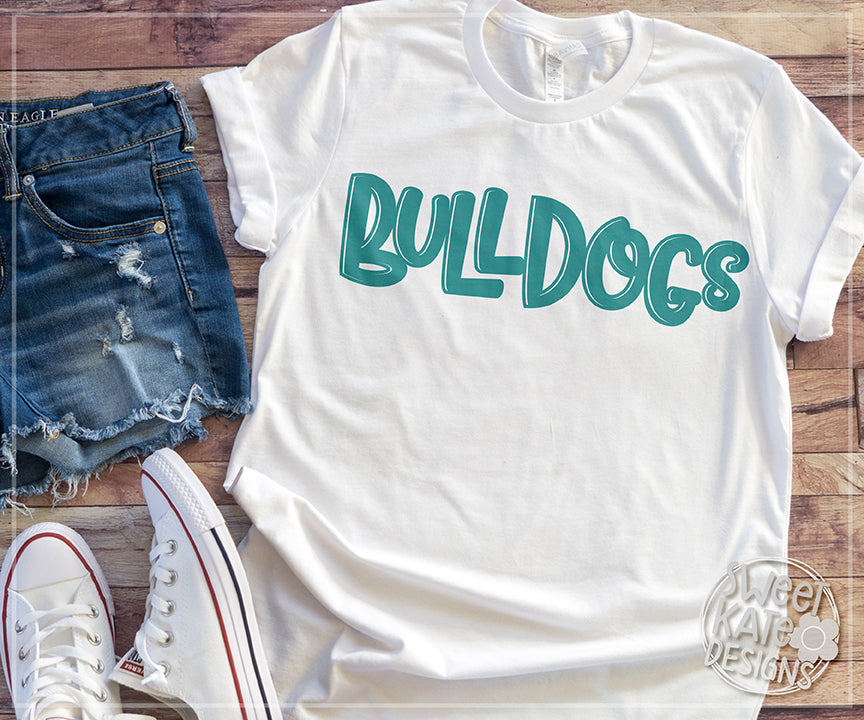 Bulldog/Bulldogs SVG DXF EPS PNG JPG - Sweet Kate Designs